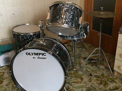 Premier Olympic Vintage Black Pearl Drum Kit Mid 1970 Super Zyn Please Read