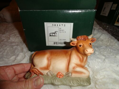 BERTA HUMMEL Nativity Figurine 26/N Ox Goebel 1996 Porcelain. With Box.