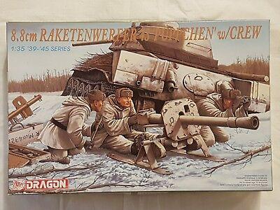 Dragon 6097 8,8cm Raketenwerfer 43 Puppchen w/Crew 1:35 Neu, nicht eingetütet