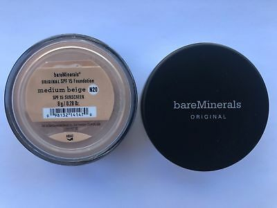 *2 Packs*  BareMinerals Medium Beige Escentuals Foundation SPF 15 N20 8g (Medium Beige Foundation)