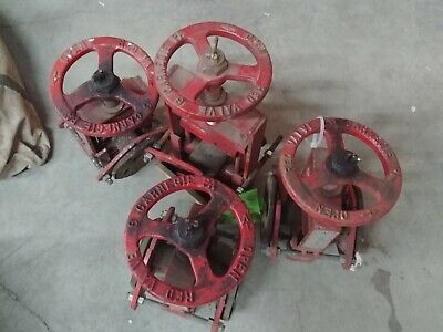 Lot Of 4 Red Valve Co. Pinch Valve