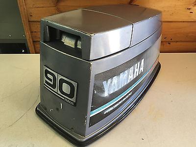89 Yamaha 90 Hp 2 Stroke 3 Cylinder Hood Top Cowl Cowling Shroud Freshwater MN