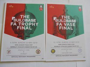 2018 FA TROPHY & VASE FINAL - BRACKLEY v BROMLEY & THATCHAM v STOCKTON
