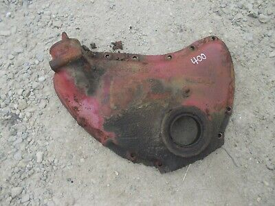 Farmall 400 Rowcrop Tractor Ih Original Engine Motor Front Cover Panel Fill Lid