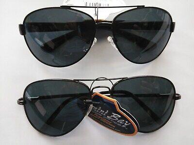 9e6de4966e 2 Bimini Bay AVIATOR Polarized Sunglasses black   wired wire frame Smoke  Lens