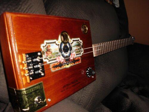3 STRING ELECTRIC/ACOUSTIC CIGAR BOX GUITAR