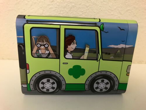 Girl Scouts Metal Tin Box Bus Car Jeep Candy Cookies 2019 - NEW