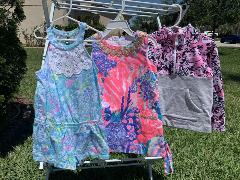 Lilly Pulitzer LOT of 3 Items; sizes 3/4 T toddler Romper, Dress & Pullover