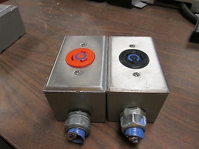 Hubbell Outlet Box W Receptacle 20a 250v Lot Of 2 Used
