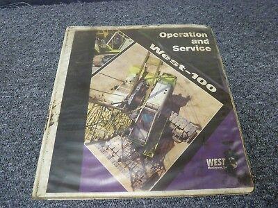 West Manitowoc Model West-100 Crawler Crane Operator Service Repair Manual