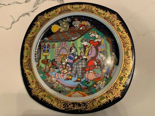 Bjorn Wiinblad & Rosenthal Weihnachten 1992 Christmas Carols Porcelain plate
