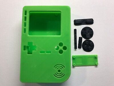 PiGRRL 2 All Green Game Boy Case & Buttons for Raspberry Pi 2/3. UK. Free Post