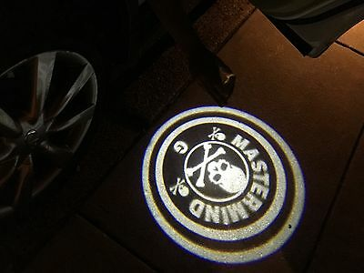 Halloween 2X New wireless car door LED logo shadow light projector Skull 256 - Halloween Shadow Projector