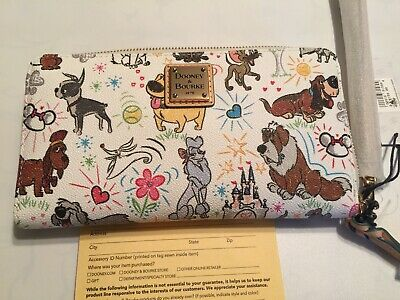 NWT Dooney & Bourke DISNEY DOGS SKETCH WALLET Parks Exclusive ACTUAL WALLET Nana