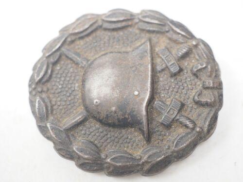 "GERMANY original WW1 era German ""stahlhelm"" black Wound Badge"