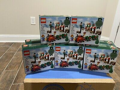 Lot Of (8)Lego Holidays Seasonal Lego Christmas -40262-Train Set