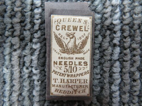 1897 Queens Crewel English Made Needles T. Harper MFG Eagle S503