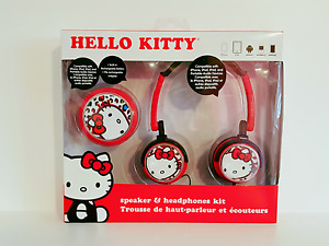 HELLO KITTY Speaker and Headphone Kit * Unused *