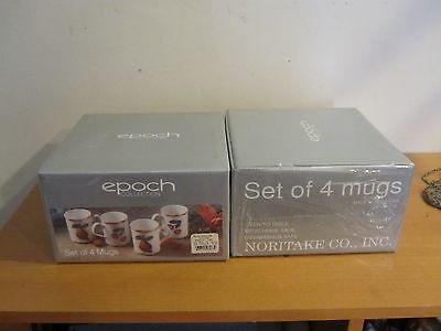 Set 8 NIB New Noritake Epoch Sommerville Porcelain Mug Microwave Oven safe