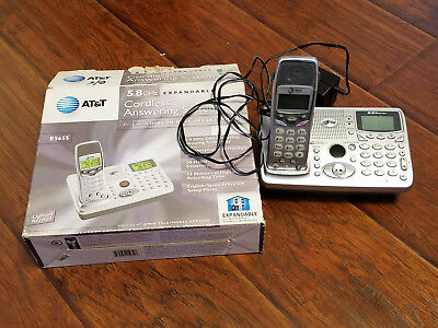 AT&T E5655 DIGITAL CORDLESS TELEPHONE ANSWERING SYSTEM 5.8 GHZ SPEAKERPHONE