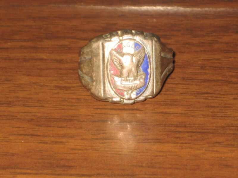 Eagle Scout Ring, Size 12 1930-40s