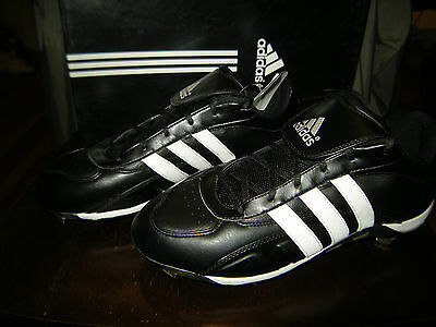 Brand New Mens Black & White Adidas Excelsior 5 Low Metal Baseball Cleats, -