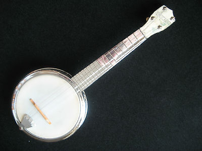 Vintage Dixie Banjo Uke All Metal With Soft Plastic Carry Case