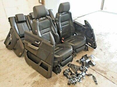 range rover sport ebony black leather seats interior electric heated tvs 05-09