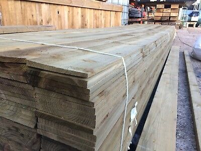 Feather Edge/Barn Cladding 175x32mm fsc Quality Treated Timber 1.2m