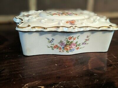 Porcelain Jewelry box painted beautiful flowers free shipping for all customers