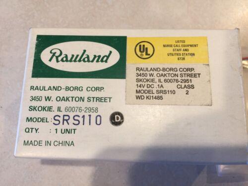 """Rauland Responder  SRS110 Staff Register Nurse Call Station """"NOS"""""""