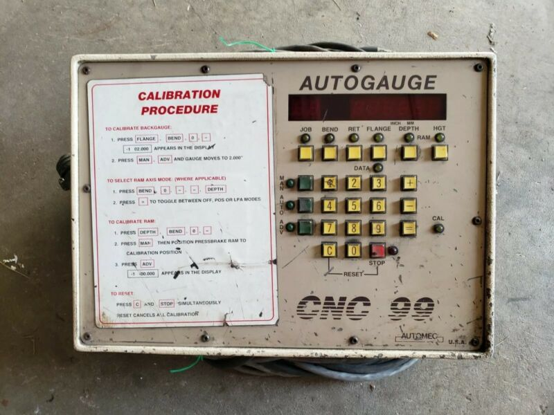 Automec Autogauge CNC99 Press Brake Control Key Pad Wires & Manual