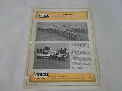 Amco 21 Series Wheel Tandem Disk Harrows