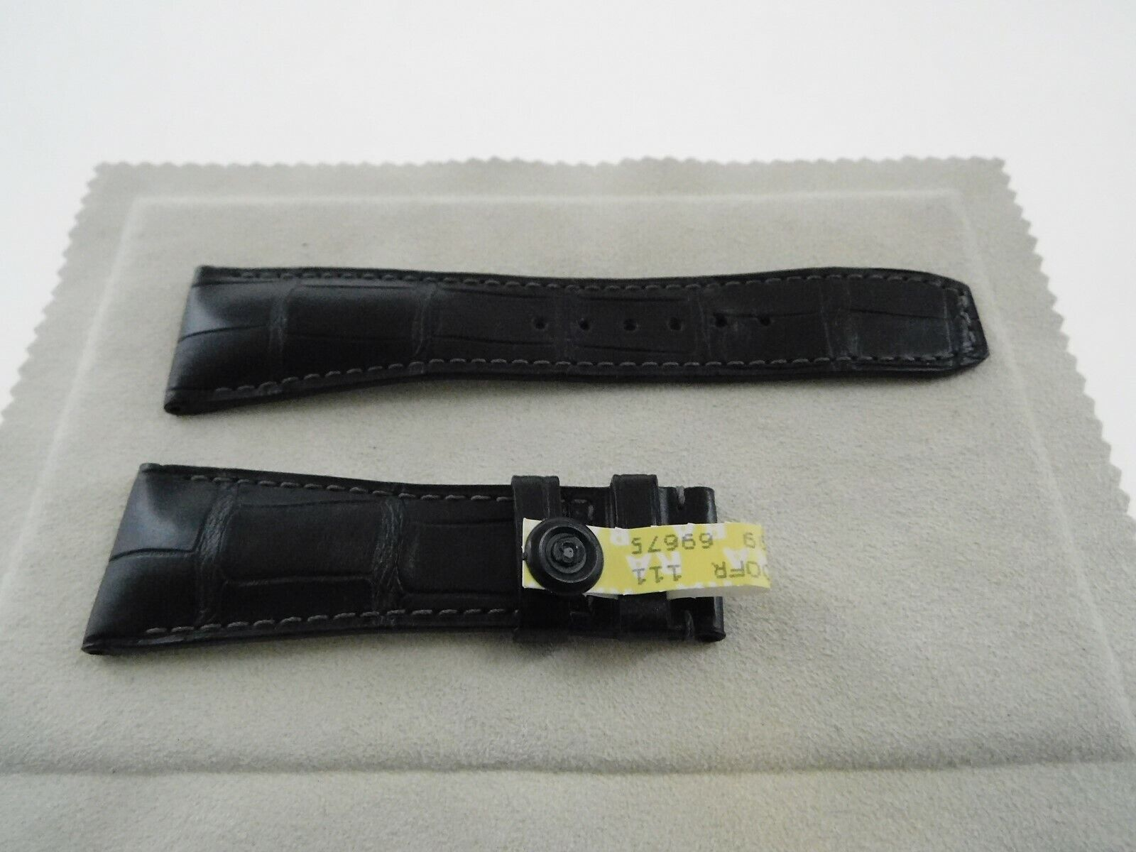 Neu  Baume & Mercier Original echt Louisiana ALLIGATOR Armband schwarz 26-20mm