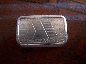 Usvi A Mark 1 Oz Pure Silver Art Bar Fine 999 1981 31 1 Gram