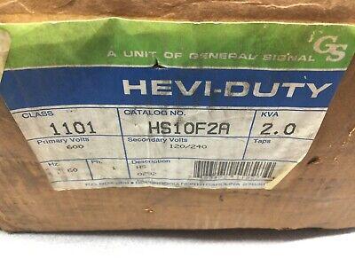 New In Box Hevi-duty2.0 Kva 600vac Primary 120240vac Sec Transformer Hs10f2a