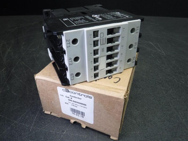 NEW IN BOX C3 CONTROLS CONTACTOR 300-S80N30 U10