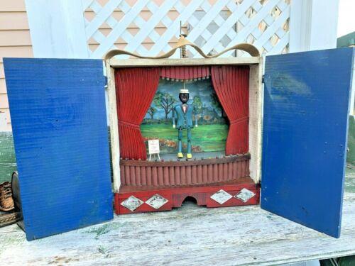 """1930s Bill """"Bojangles"""" Robinson Tap Dance Folk Art Diorama - Vaudeville Automata"""