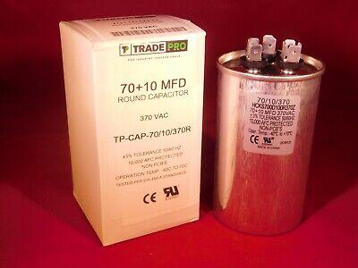 Dual Run Cap 7010 Mfd 370v Electric Motor Run Oil Fill Capacitor Uf Hvac 70-10