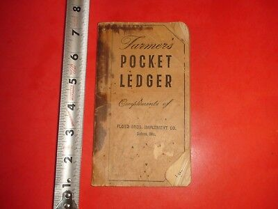 HS235 Vintage 1950 John Deere Farmer's Pocket Ledger Floyd Bros Implement Co