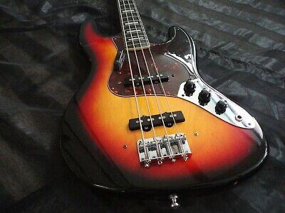 1970's vintage Hohner 4 string jazz bass guitar tobacco sunburst finish w/case