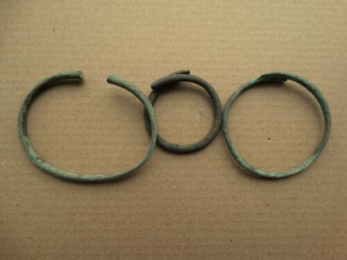 Ancient Set of Viking Bronze Bracelets 8-12 AD Kievan Rus
