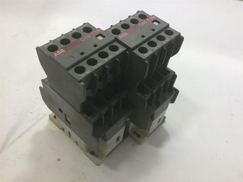 Lot Of 2-- Abb N31E Contactor 110-120V Coil W/ Abb Ca5