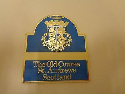 3cf75416439 Old Course St. Andrews Scotland Golf Bag Tag