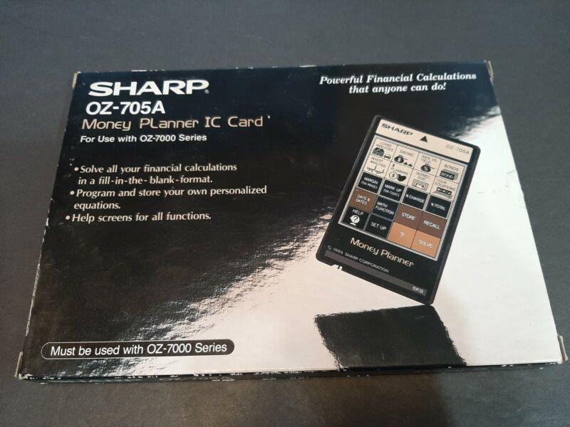 Sharp OZ-705A Money Planner IC Card