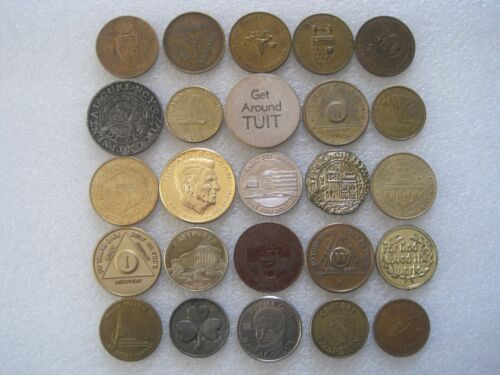 26 Different Medals Large Tokens Lot 1C433 0427-7