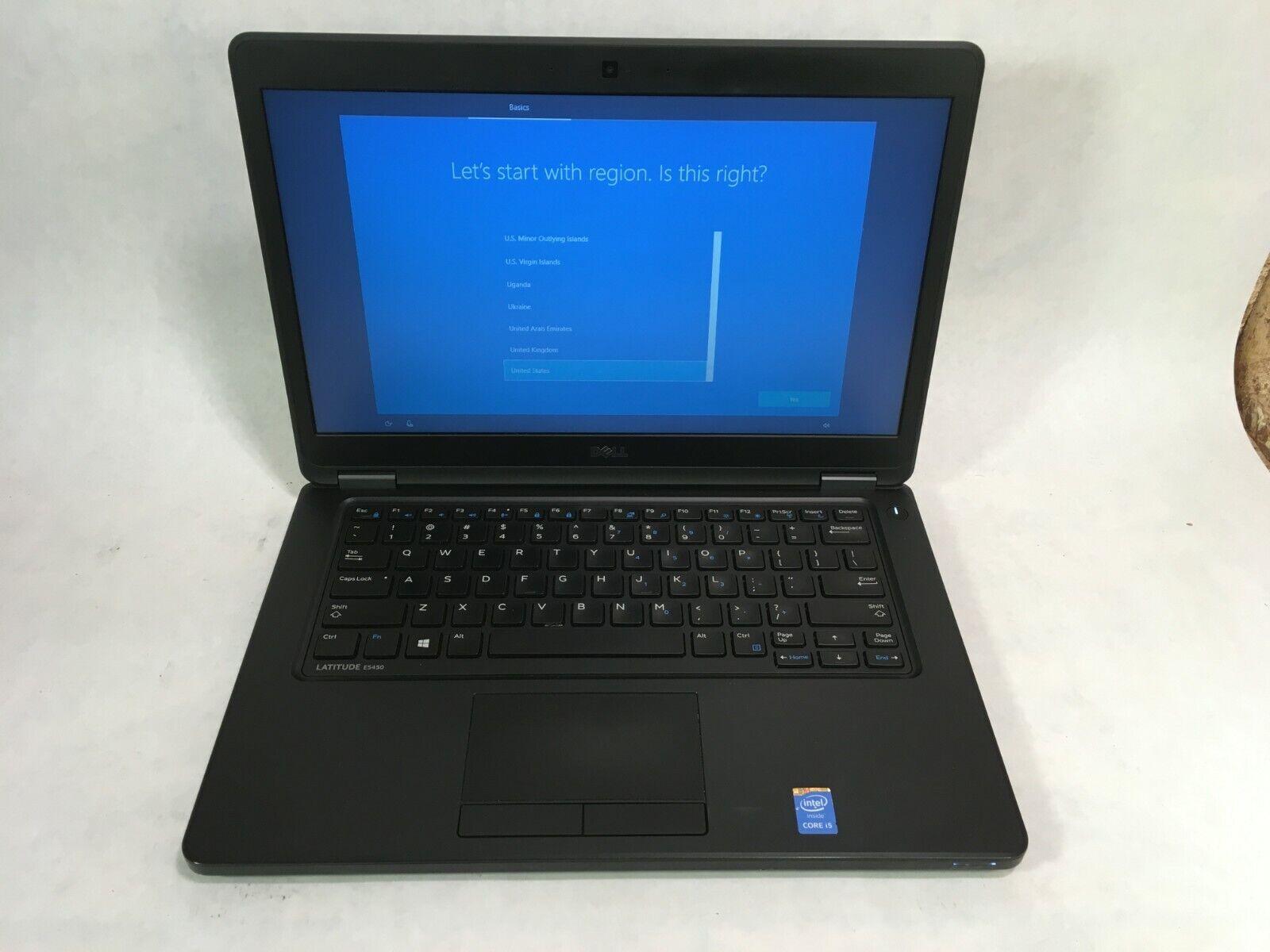 "Laptop Windows - Dell Latitude E5450 14"" Laptop Intel i3 2.1GHz 4GB RAM 250GB HDD Windows 10"