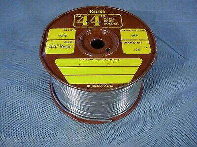 Kester 44 Resin Core 6040 Alloy 66 Flux Solder 20 Lbs Spool Approx. 18 Lbs