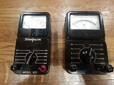 Simpson Model 377 And Conway Electronic Enterprises - Lot Of 2 Meters