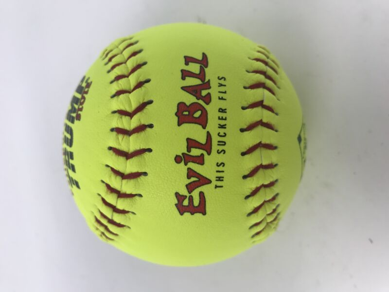 "New Trump Stote Evil Ball Trump MP-EVIL-RP-11-ASA-Y 11"" Fastpitch Yellow 1 Dzn"
